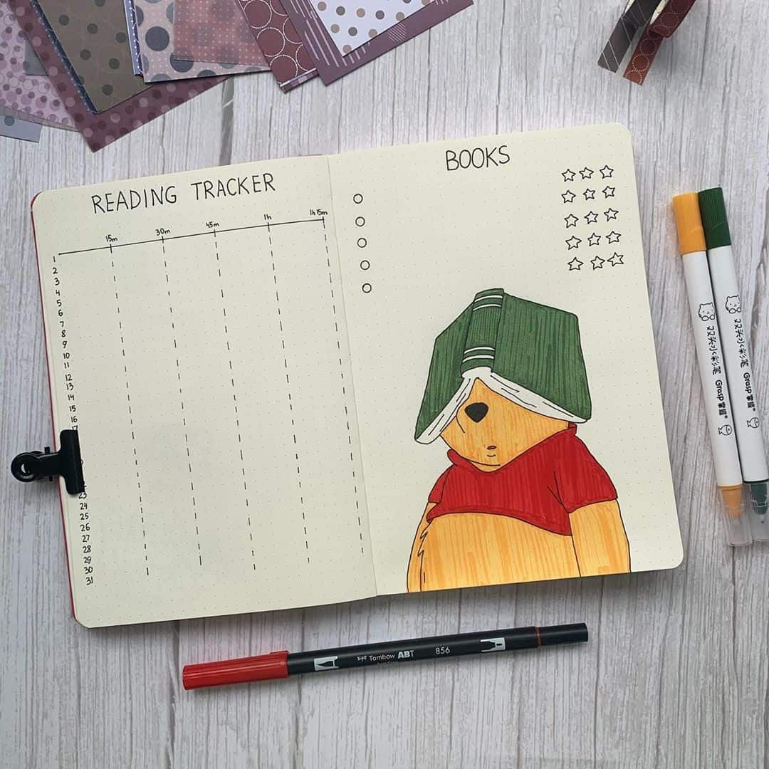 35 Creative Book and Reading trackers for your Bullet journal | My Inner Creative