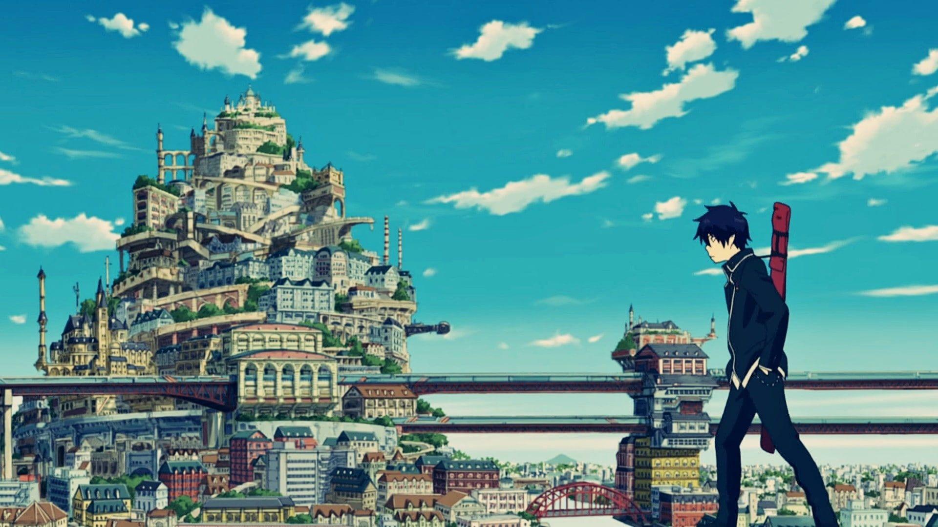 Blue Exorcist Okumura Rin Anime 1080p Wallpaper Hdwallpaper Desktop Blue Exorcist Blue Exorcist Anime Blue Exorcist Wallpaper