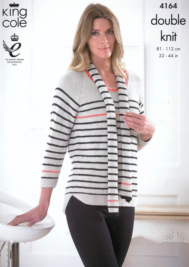 King Cole Ladies Cardigan /& Sweater Cottonsoft Knitting Pattern 3951 DK ...