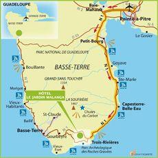 Carte Basse Terre Guadeloupe Basse Terre Guadeloupe Hotels