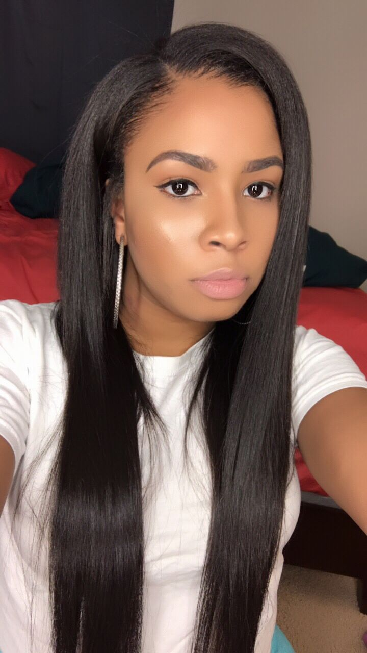 Side Part Sew in  Sew Ins in 2019  Sew in weave