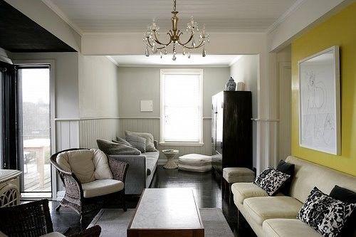Love The Grey With Yellow Accent Wall