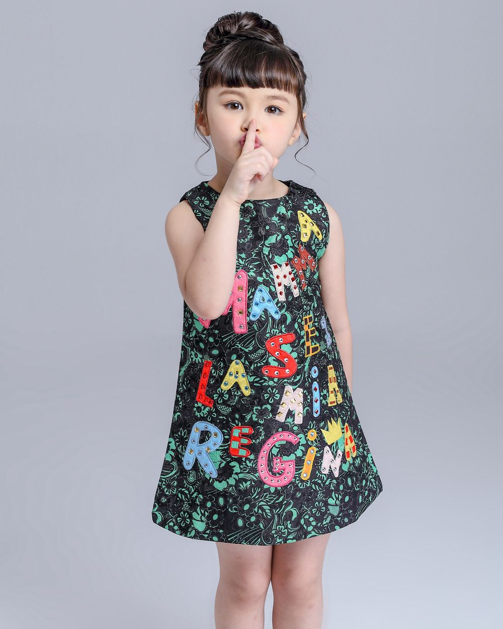 57158957885e High End Luxury 2015 Autumn Girls Dress Brand Designer Kids Clothes ...