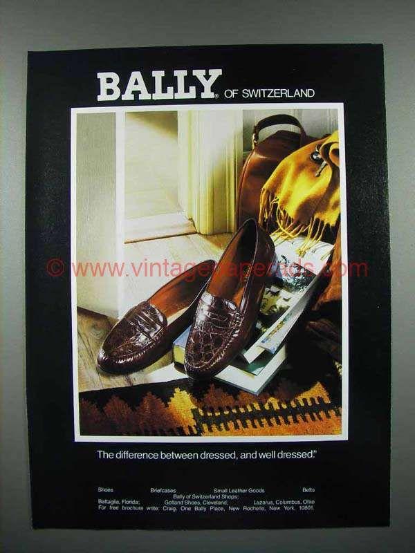 1989 Bally Of Switzerland Shoes Ad
