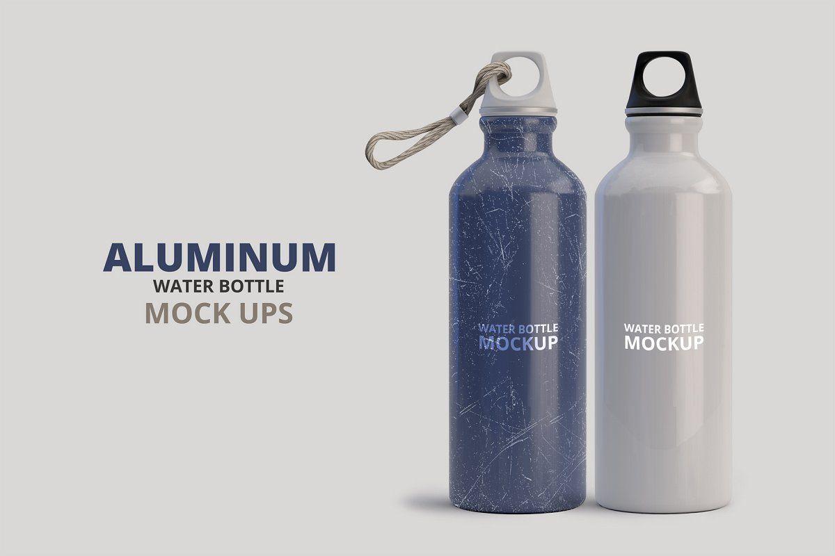 Download Aluminum Water Bottle Mockup Bottle Mockup Water Bottle Aluminum Water Bottles