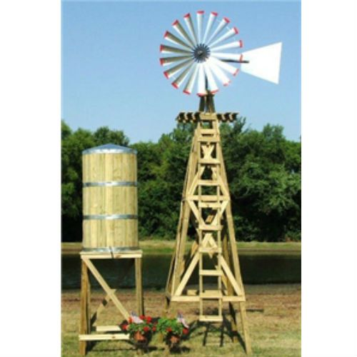 decorative windmill and water tower from usa scotts.   stuff to