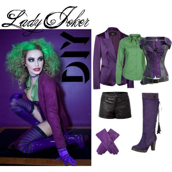 lady joker by voltronosnapp on polyvore - Joker Halloween Costume For Females