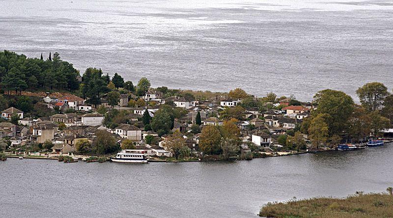Island in Pamvotis lake - ioannina, Ioannina #ioannina-grecce Island in Pamvotis lake - ioannina, Ioannina #ioannina-grecce