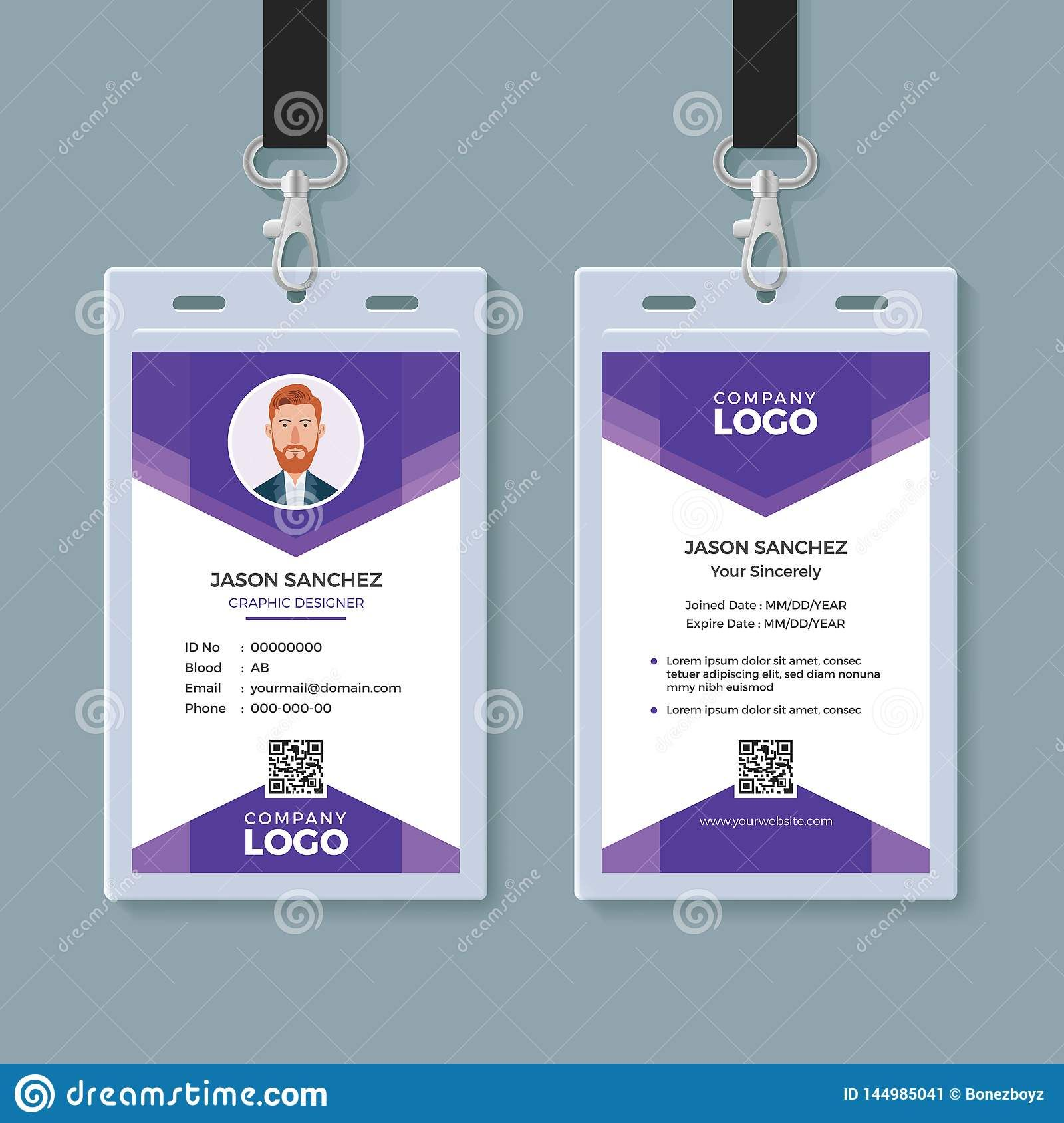 Creative Id Card Template Stock Vector Illustration Of Within Conference Id Card Template Professional Template Ideas