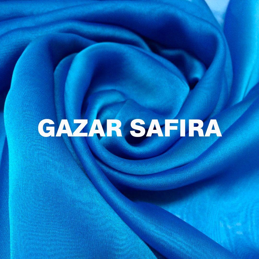 O Gazar Safira E Um Tecido Leve Fluido Transparente E Arejado