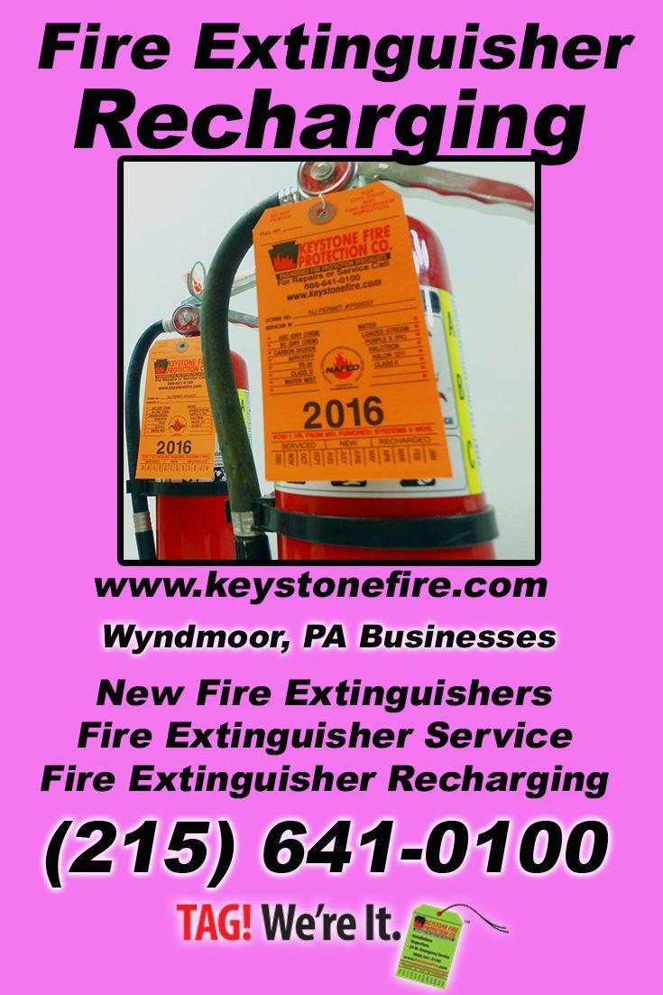 Fire Extinguisher Recharging Wyndmoor, PA (215) 6410100