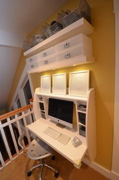 Amazing Find This Pin And More On Office By Ebonyadams31. White Floating Desk  Storage ...
