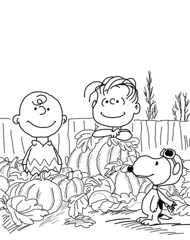 Great Pumpkin Charlie Brown Coloring page | great pumpkin charlie ...