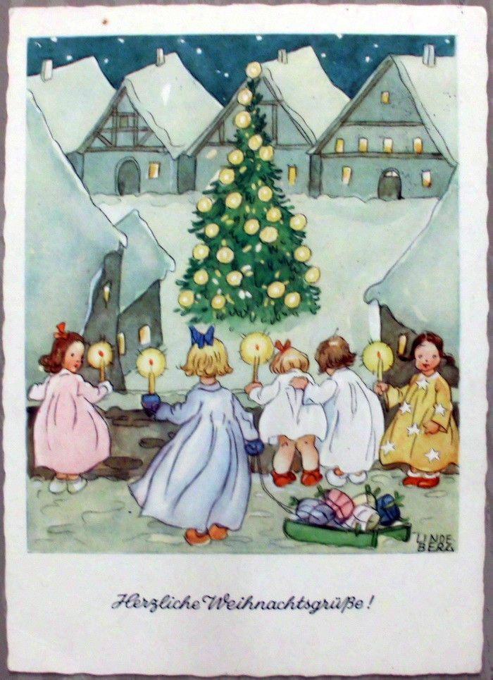 Weihnachtskarten Verlag.Ak Weihnachten Carl Lindeberg Signiert Gunkel Verlag Ebay