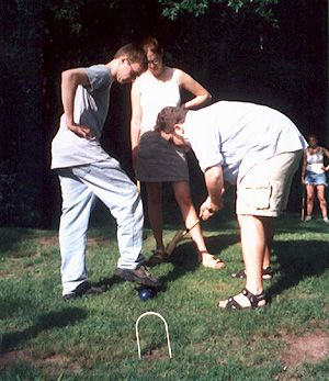 Croquet Game Rules | team ninja Doug and John dispense with Liz's sphere before her eyes at ...