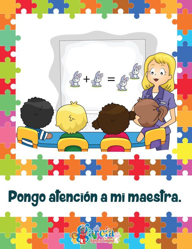 Reglas Acuerdos Para El Aula Pongo Atencion A Mi Maestra Normas De La Clase Aula De Preescolar Organizacion Escolar