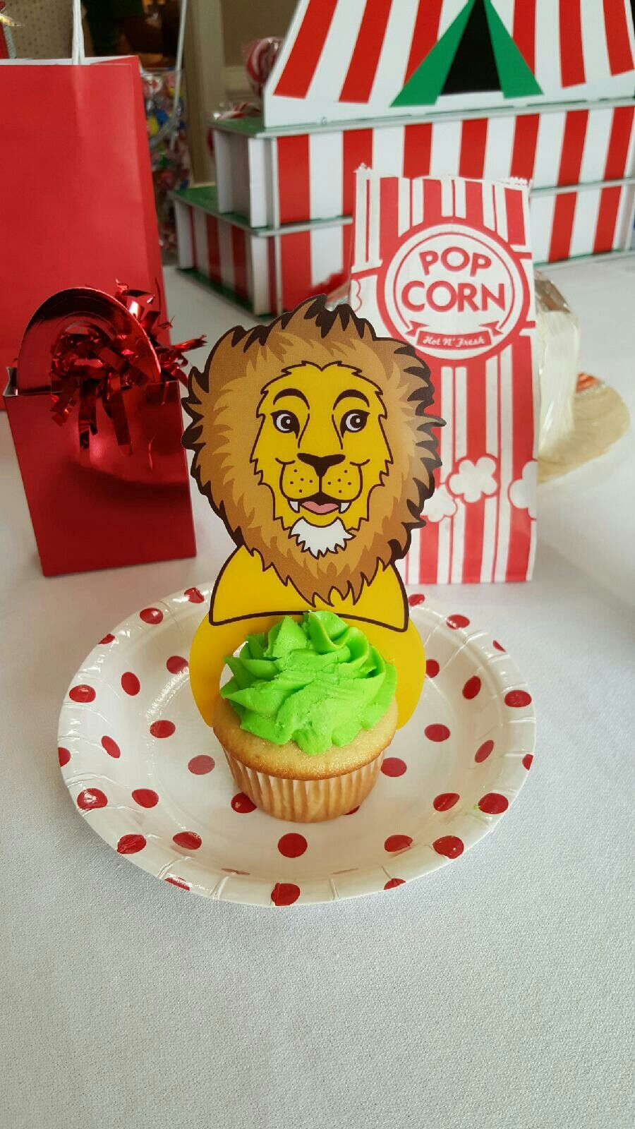 Cute cupcake pick from Oriental trading