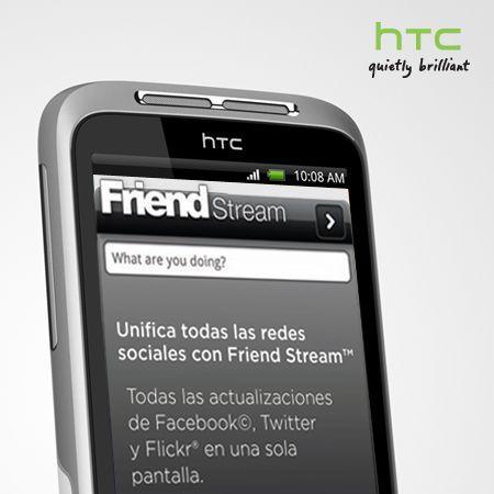 Con HTC Sense, la interfaz de usuario exclusiva de HTC, cuentas con la aplicación Friend Stream.     Gracias a esta app puedes actualizar tu estado de forma simultánea en todas las redes. Comparte y consigue actualizaciones de tus amigos en las redes sociales más populares.