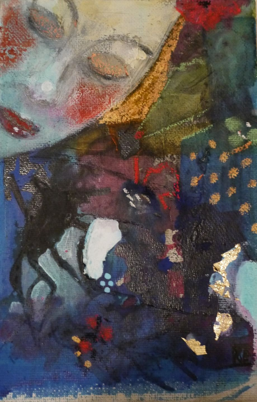 tableau art contemporain original d coration peinture abstraite techniques mixtes mini toile je. Black Bedroom Furniture Sets. Home Design Ideas