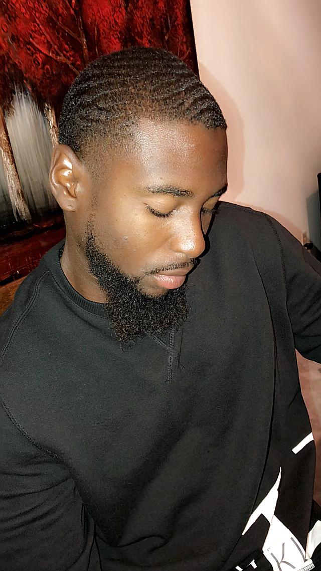 Black guy waves