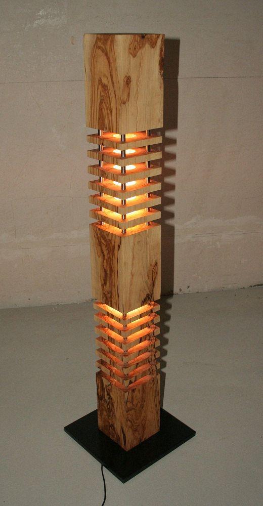 Lampe Designerlampe Stehlampe Aus Von Rheinlichtundwaerme Auf Etsy Wood Floor Lamp Diy Floor Lamp Wood Lamp Design