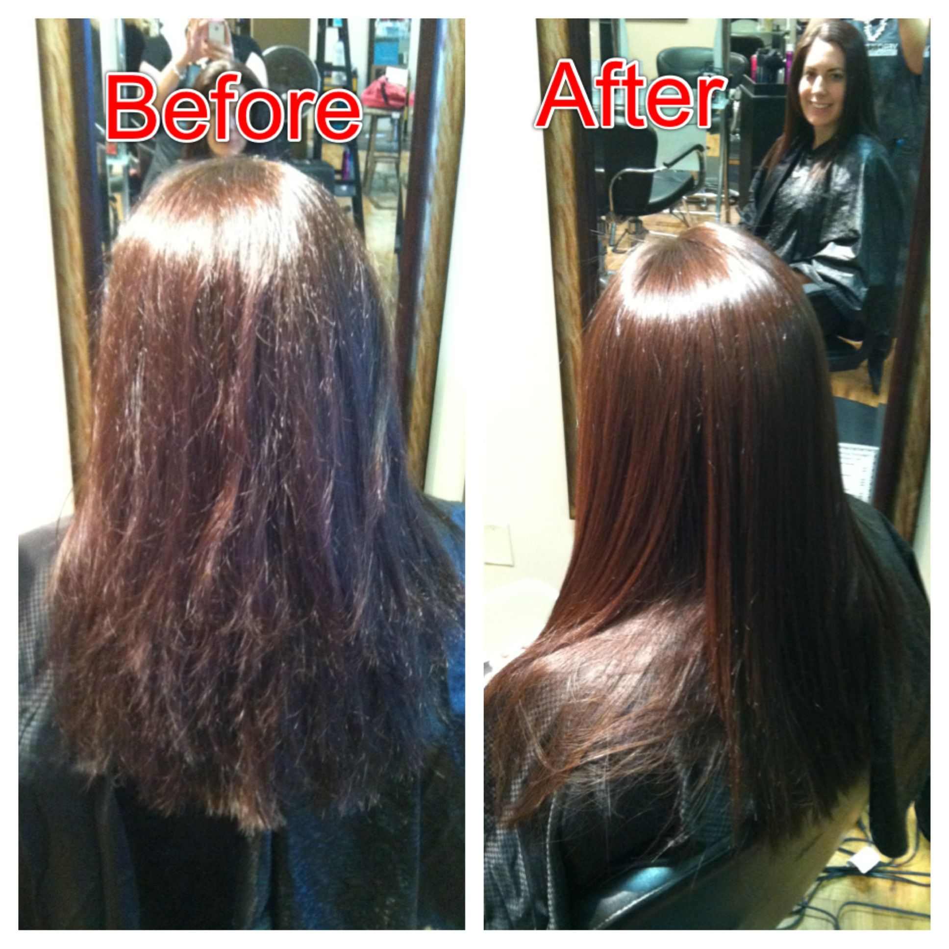 Before and after a keratin treatment | Random | Pinterest ...
