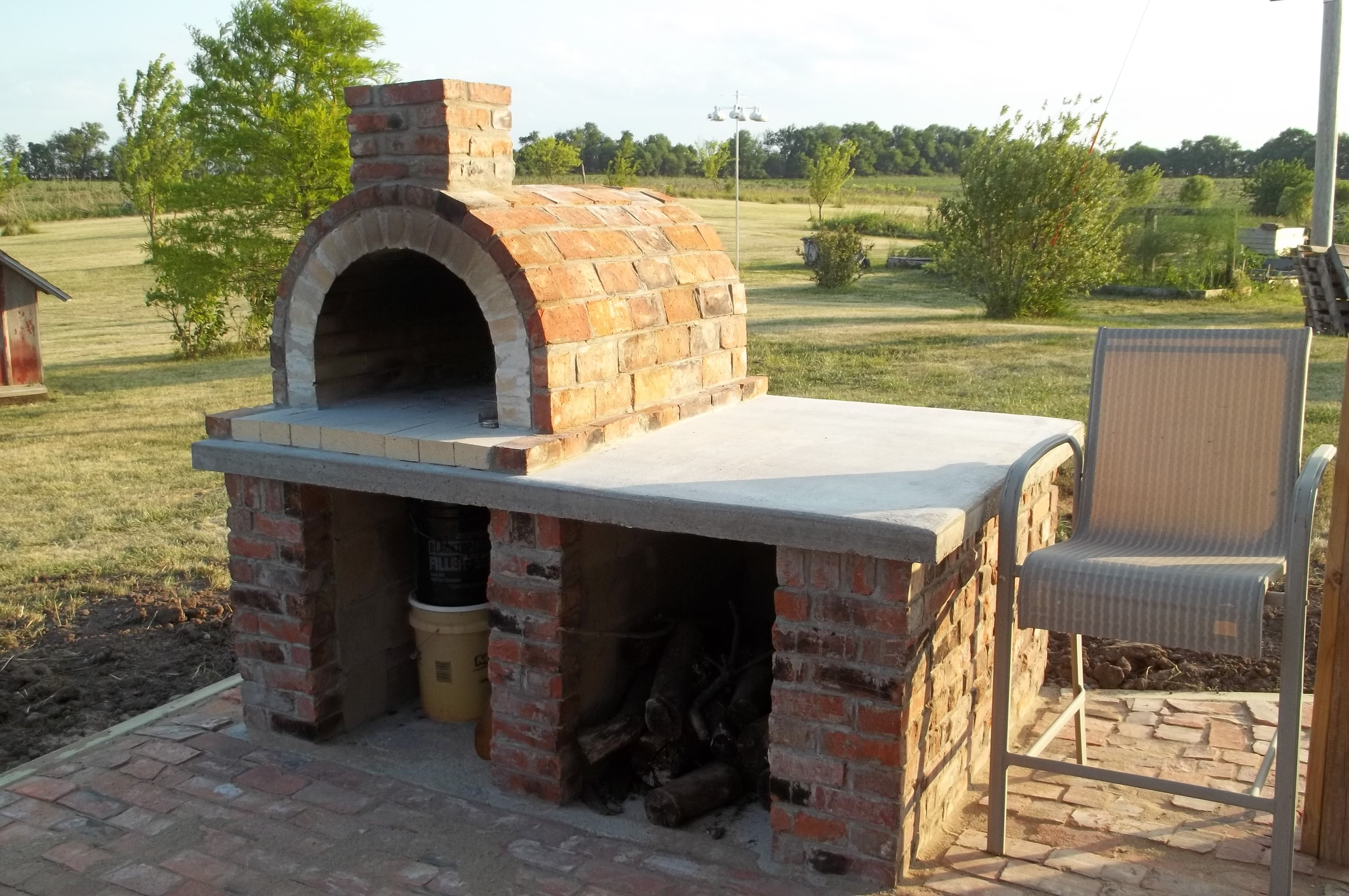 The Dearborn Family Wood Fired Brick Pizza Oven In Iowa   The .