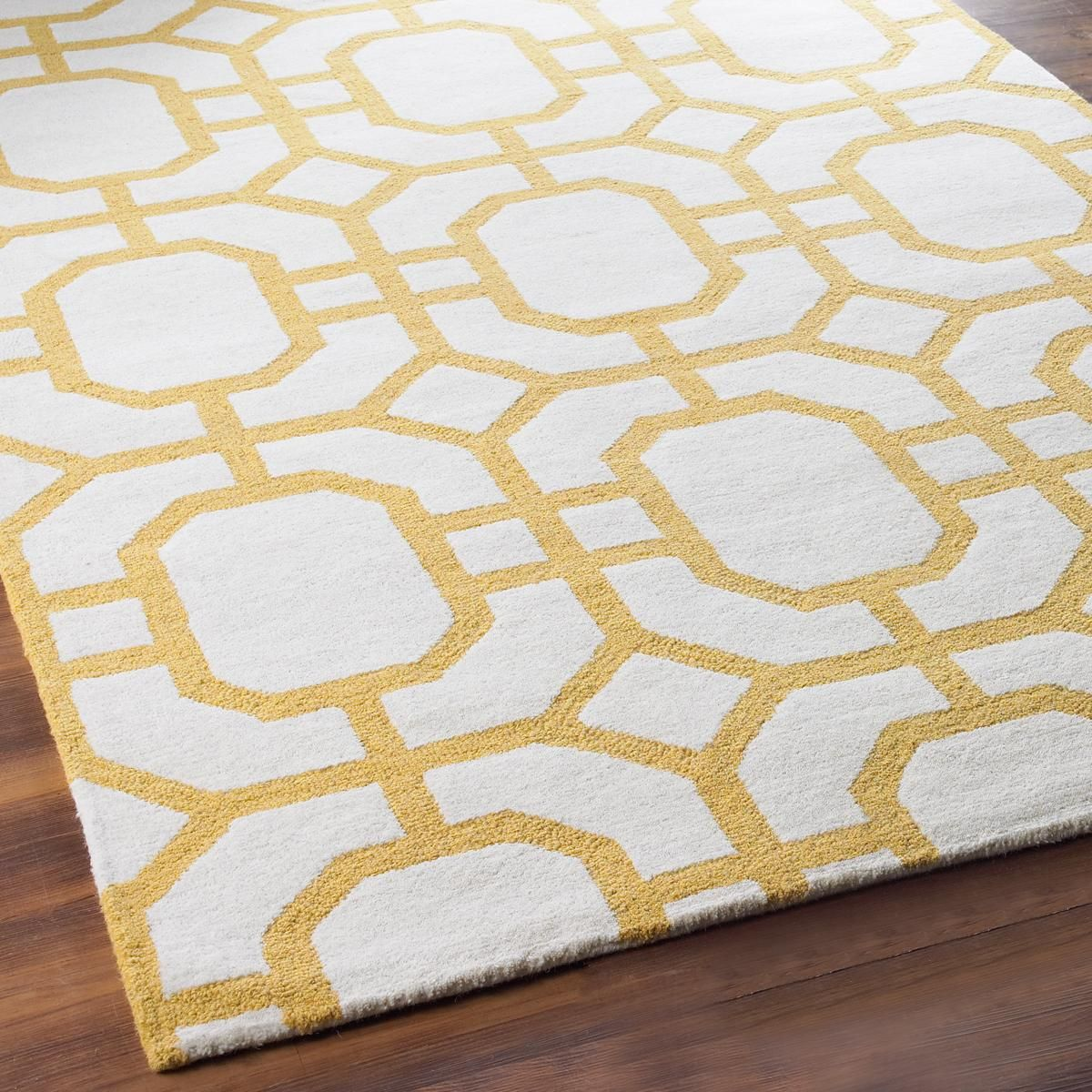 Octagon Trellis In Tufted Wool Shades Of Light Dining Room Rug Rug Options Townhome Decorating