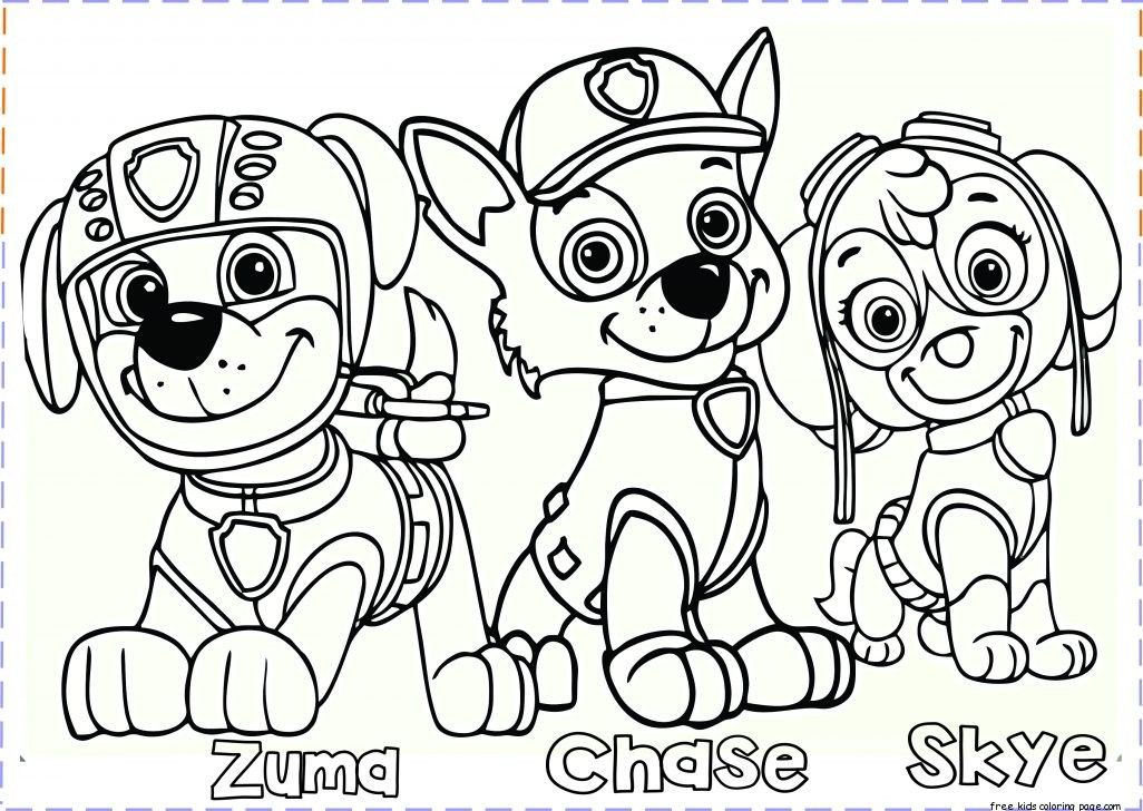Paw Patrol Coloring Pages With Images Paw Patrol Coloring
