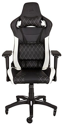 Corsair T1 Race Gaming Chair High Back Desk Office Chair Black White Gaming Chair Reviews And Ratings Gamer Chair Game Room Chairs Gaming Chair