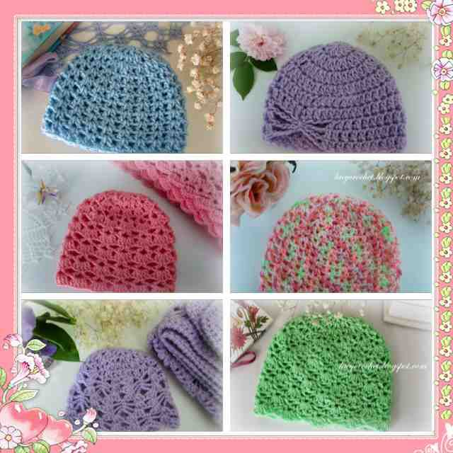 Free Crochet Baby Hat, Beanie Patterns. Easy and cute. http ...