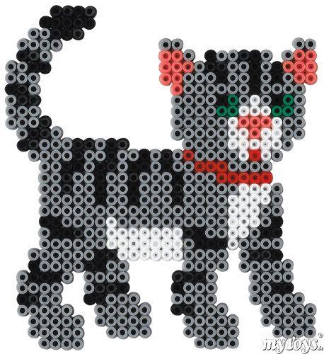 Cat Hama Perler Beads Katze Bugelperlen Basteln