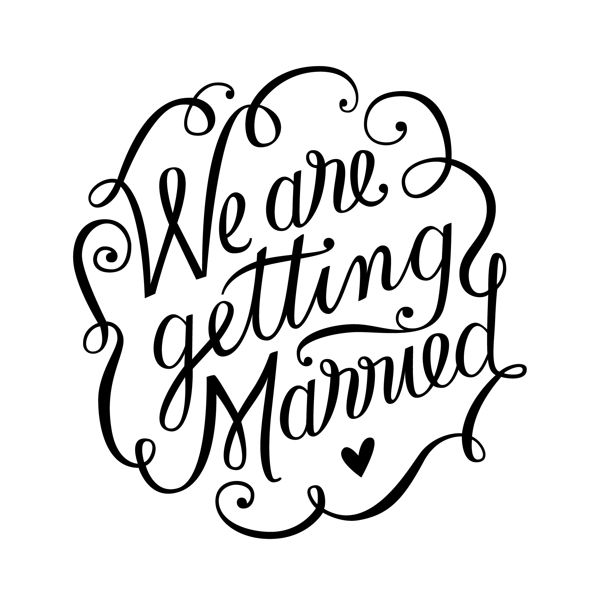 We are getting married by E. Soto, via Behance