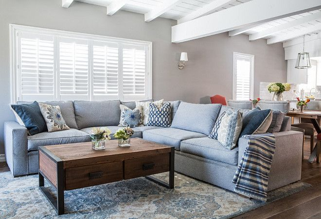 Small living room painted in benjamin moore baltic grey - Gray paint living room ...