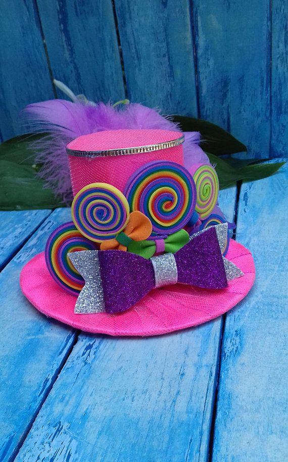9ed86bdac0307 Rainbow mini top hat