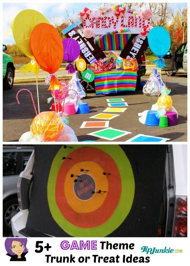trunk or treat halloween car decorations and party games