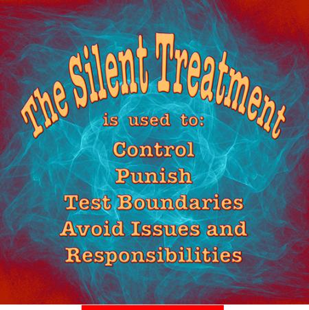 Passive aggressive husband silent treatment