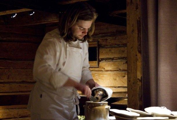 Chef Magnus Nilsson at work in northern Sweden's F�viken Magasinet restaurant