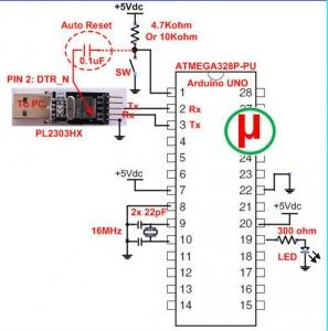 how to upload sketches to atmega328p chip using pl2303 usb resistor circuit diagram