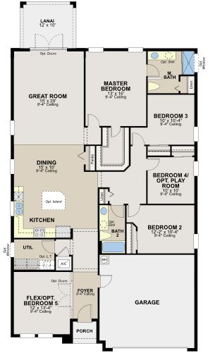 The Clearwater By Ryland Homes At Connerton Floor Plans