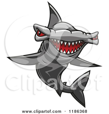b8f7d71e90bc6 Clipart of a Red Eyed Hammerhead Shark - Royalty Free Vector Illustration  by Seamartini Graphics cost  45