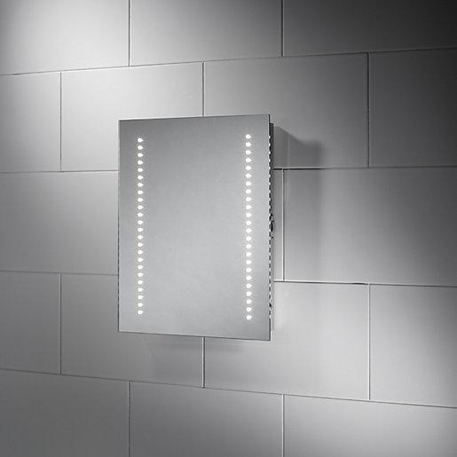 Wickes Oslo Led Bathroom Mirror 500mm Wickes Co Uk Led Mirror Bathroom Bathroom Mirror Led Mirror