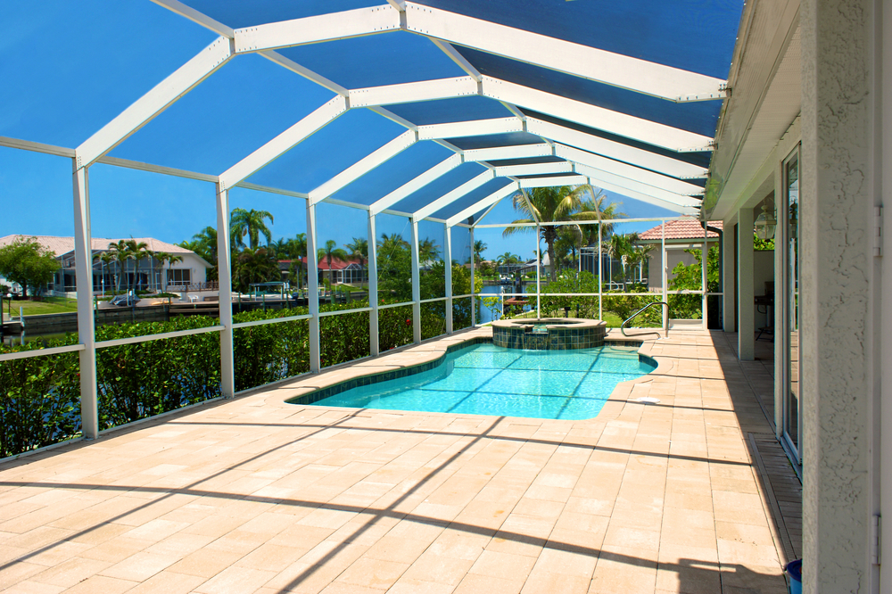 Our Lanai Screen Enclosures Are Custom Designed And Constructed Using Only The Material Vacation Rentals Orlando Orlando Vacation Home Rentals Orlando Vacation
