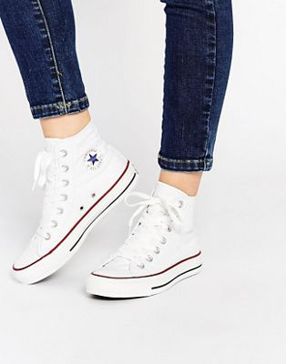 11d2d149e28dc Converse All Star high top white sneakers in 2019