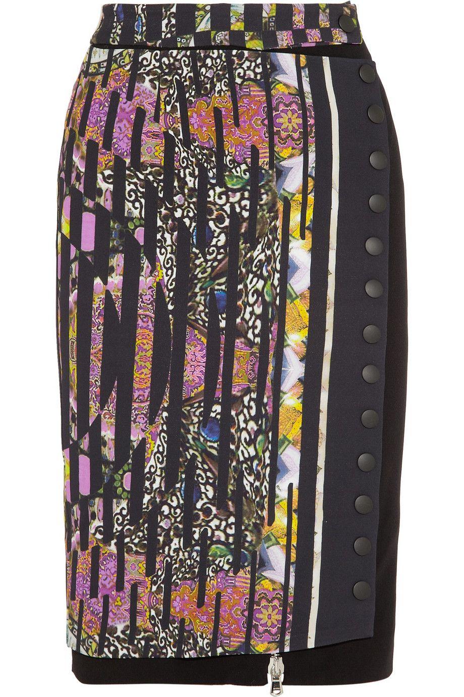 Etro Printed crepe pencil skirt NET-A-PORTER.COM