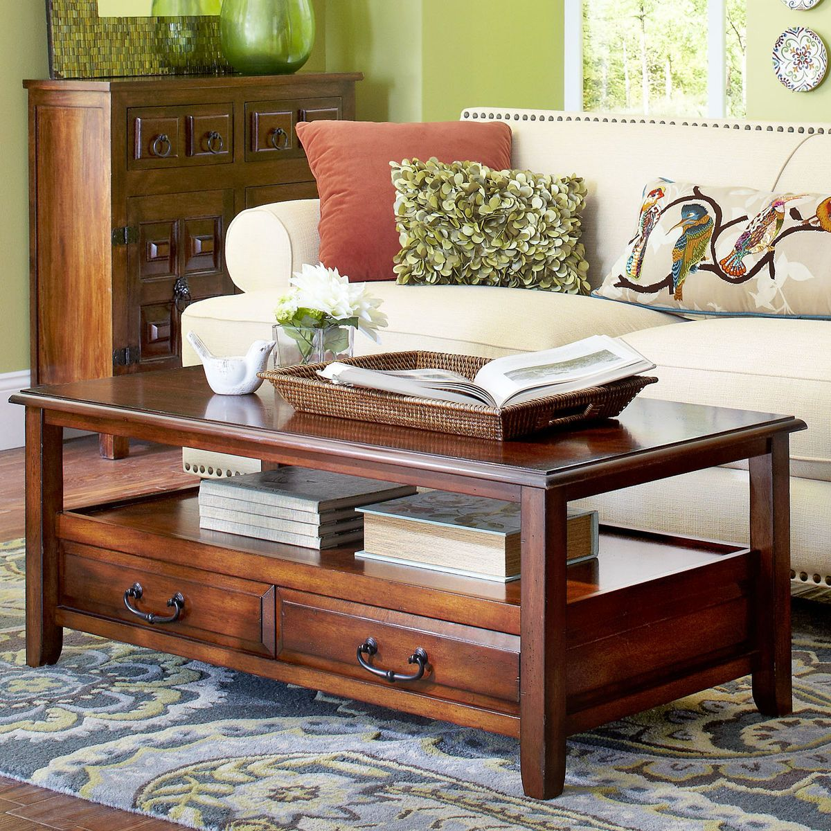 Anywhere Tuscan Brown Coffee Table With Pull Handles Brown Coffee Table Coffee Table Black Coffee Tables