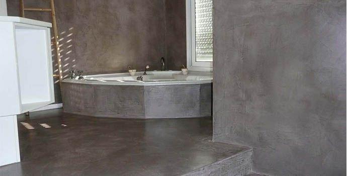 Beton ciré badkamer badkamer ideeën