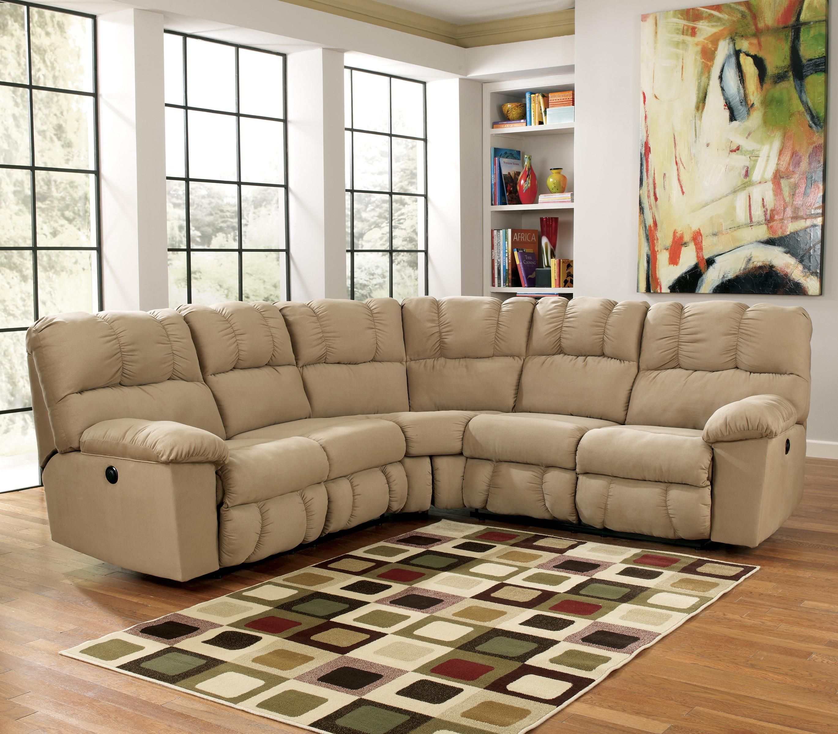 Lakesha Taupe 2 Piece Reclining Sectional by Signature Design by