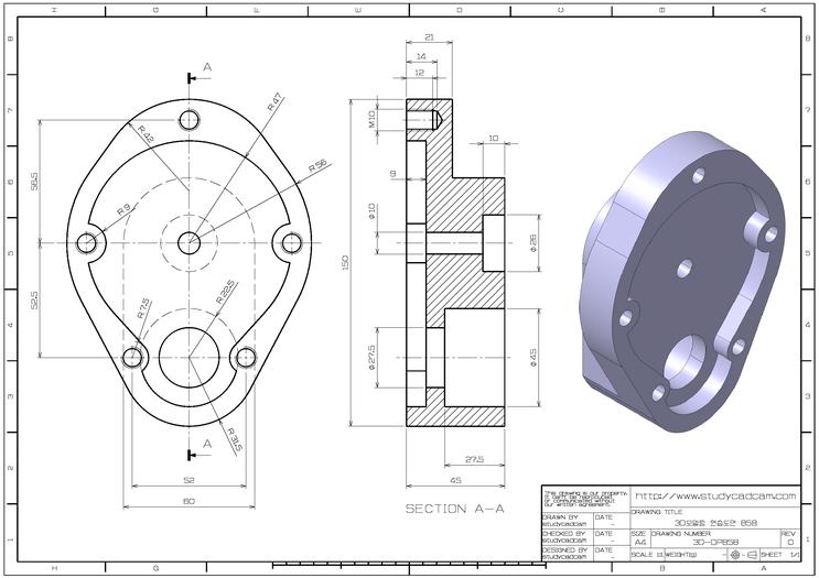 스터디캐드캠 Study Cadㆍcam Mechanical Engineering Design Autocad Isometric Drawing Mechanical Design