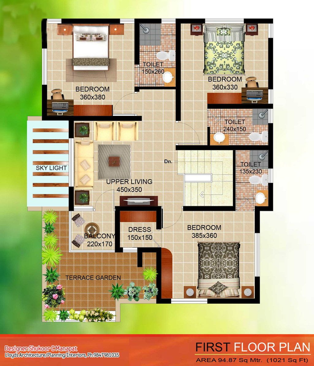4 bedroom house kerala floor plan l f4a6b5527832fcd5
